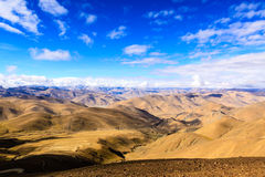 Himalayas. Tibet. View point Everest on the pass Royalty Free Stock Photography