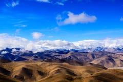 Himalayas. Tibet. View point Everest on the pass Stock Photos