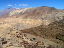 Himalayas - um passeio na montanha a Marpha imagens de stock