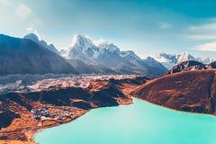 Himalayas. View from Gokyo Ri Royalty Free Stock Images
