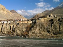 Himalayas - vila de Kagbeni imagens de stock