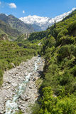 Himalayas from Yamunotri Valley Stock Photo