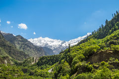 Himalayas from Yamunotri Valley Royalty Free Stock Photo