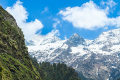 Himalayas from Yamunotri Valley Stock Photography