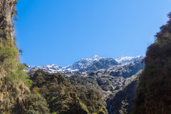 Himalayas from Yamunotri Valley Stock Image