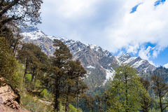Himalayas from Yamunotri Valley Stock Photos