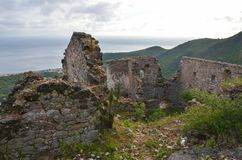 Himara castle, Albania Royalty Free Stock Images