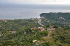 Himarakasteel, Albanië stock fotografie