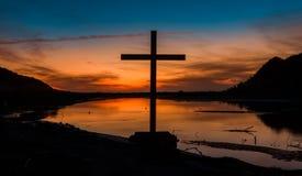 Himatangi Beach Sundown Cross Royalty Free Stock Photo