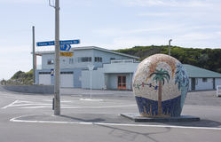 Himatangi, New Zealand. Sculpture near the beach in the small town of Himatangi, New Zealand Stock Photo