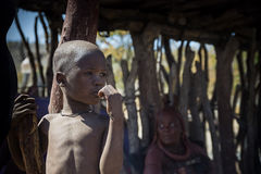 Himba子项 免版税库存图片