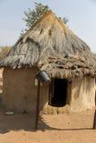 Himba村庄在纳米比亚 免版税库存图片