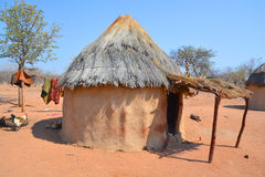 Himba部落村庄 图库摄影