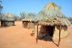 Himba部落村庄 免版税库存图片