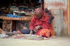 从Himba部落的妇女 免版税库存照片
