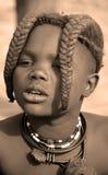 从Himba部落的孩子 库存照片