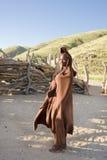 himba部落的美丽的妇女在纳米比亚 免版税库存图片