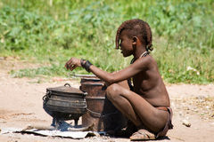 Himba boy Stock Images
