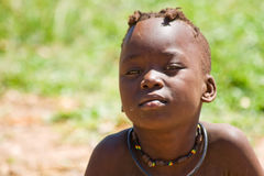 Himba boy. Portrait of Himba boy, Namibia Royalty Free Stock Images