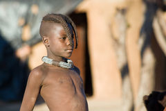 Himba boy portrait Royalty Free Stock Image