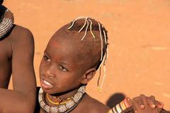 Himba child, Namibia Stock Photo