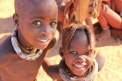 Himba children, Namibia royalty free stock image