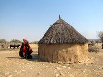 Himba Dorf Stockbild