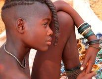 Himba flicka, Namibia Arkivfoton