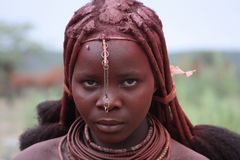 Himba girl. A girl from the Himba tribe, Namibia royalty free stock image