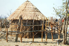 Himba house Stock Photos