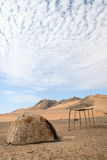 Himba Hut stock image