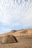 Himba Hut. Deserted Himba Hut in the Hartman Valley, Namibia Stock Image