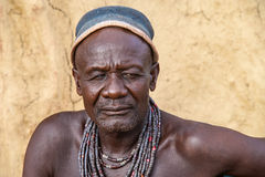 Himba man, portrait, Namibia Royalty Free Stock Photos