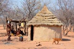 Himba-Stammdorf Stockfoto