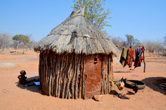 Himba tribe village Royalty Free Stock Images