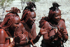Himba Tribespeople Damaraland в Намибии стоковое изображение