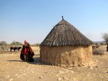 Himba village Stock Image