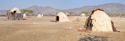 Himba Village. The Himba are indigenous peoples  living in northern Namibia, in the Kunene region Royalty Free Stock Photography