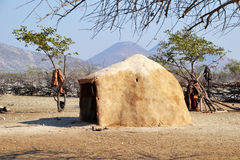 Himba Village. The Himba are indigenous peoples  living in northern Namibia, in the Kunene region Royalty Free Stock Image