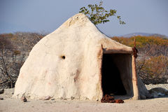 Himba Village. The Himba are indigenous peoples  living in northern Namibia, in the Kunene region Stock Photos