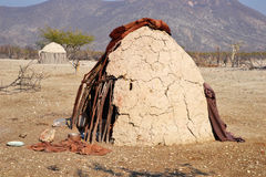Himba Village. The Himba are indigenous peoples  living in northern Namibia, in the Kunene region Royalty Free Stock Photo