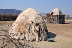 Himba Village. The Himba are indigenous peoples  living in northern Namibia, in the Kunene region Stock Photography