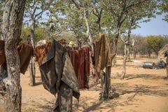 Himba village in Namibia Stock Image