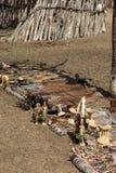 Himba village in Namibia Royalty Free Stock Photos