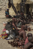 Himba Villagers Selling Crafts Stock Image