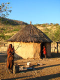 Himba woman and child Stock Photos