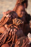 Himba women. Himba are an ethnic group of about 20,000 to 50,000 people living in northern Namibia, in the Kunene region (formerly Kaokoland Royalty Free Stock Image