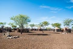 Himbahuizen, Namibië, Afrika Stock Foto