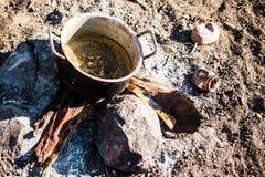 Himbapot, Namibië, Afrika Stock Foto's