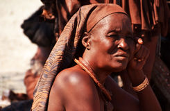 Himbas. The Himba are indigenous peoples  living in northern Namibia, in the Kunene region Stock Photography